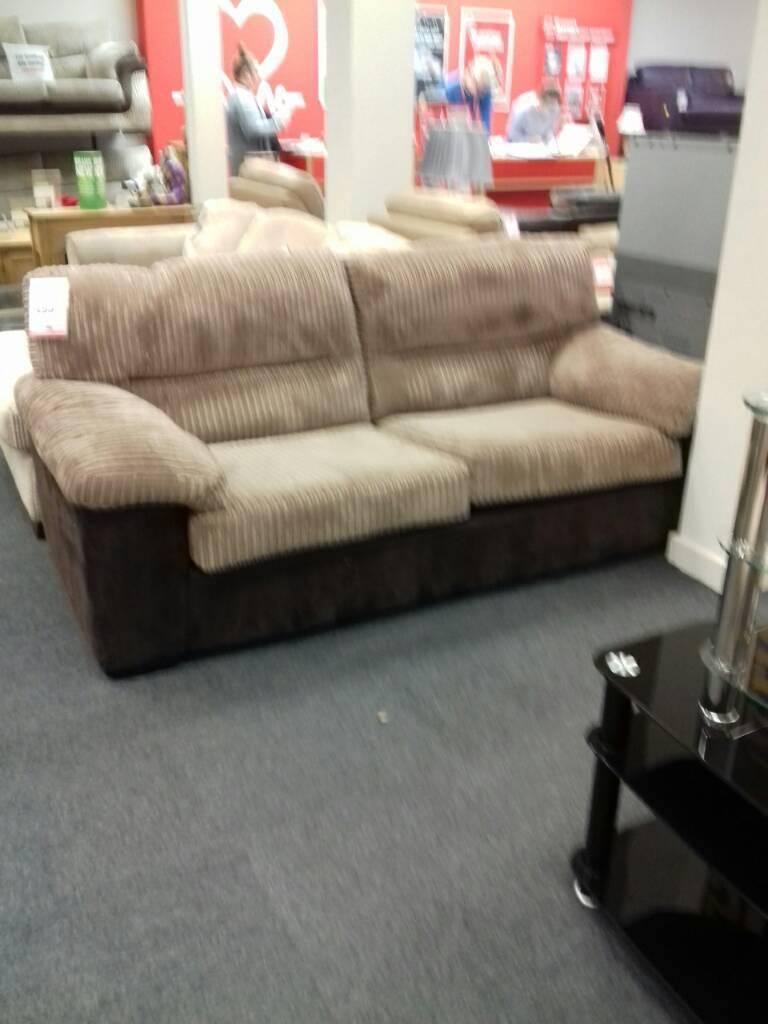 Beautiful brown fabric sofa
