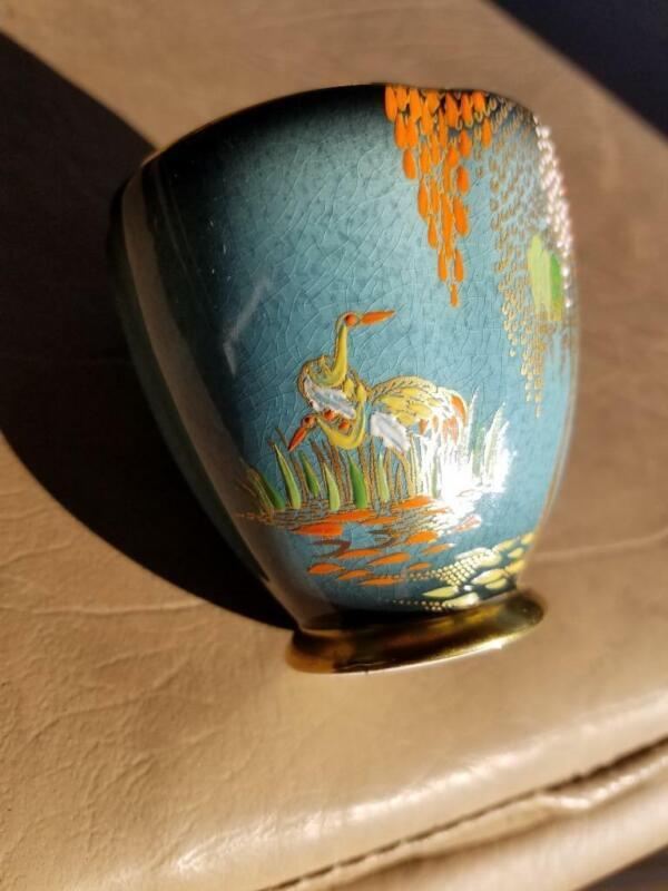 Vintage Carlton Ware Deco Blue Royale New Mikado Pattern Lustre Demitasse Cup