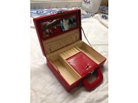 Jewellery box leather red
