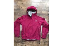 Ladies The North Face Hooded Pink Hyvent Dt Jacket Size Small