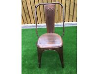 Copper aluminium vintage chairs