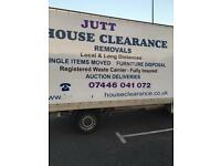 JUTT HOUSE CLEARANCE &REMOVALS LOCAL AND LONG DISTANCE MAN AND VAN FURNITURE REMOVALS