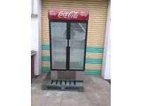 Commercial fridge double door drink display fridge upright double glass door