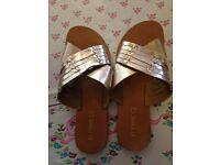 Next gold sandals size 6