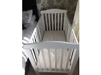 Superb condition - hardly used Cot white colour with mattress £55ono