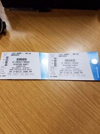 * Pending collection * Two frightened rabbit tickets sat 17th