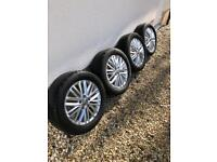 """VW 16"""" FORTALEZA ALLOYS AND CONTINENTAL TYRES"""