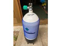 12 Liter dumpy diving cylinder in test