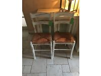 2 x shabby chic wooden chair