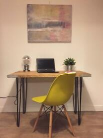 Rustic industrial style hand reclaimed wood table desk/bureau/sideboard