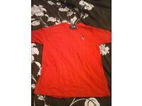 ralph lauren red medium t shirt