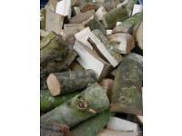 Unseasoned Hardwood Split Firewood Logs (Free Delivery)