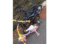 Children's bikes.