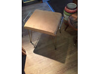 Retro stool , great shape , metal legs . In good condition . Must be seen.