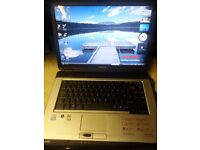Toshiba laptop working perfectly and in good condition