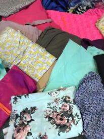 Large Bulk Of Mixed Fabrics / Wholesale / Job Lot