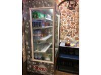 Drinks display fridge almost brand new