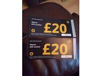 £40 wolves vouchers