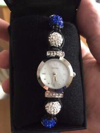Sekonda - Sekonda Ladies Crystalla White Blue Bracelet Watch