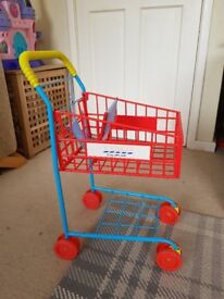 Childs toy trolley - mini 'Tesco' trolley