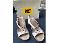WOMENS LADIES CATERPILLAR WEDGED SANDLE SHOES SIZE 6