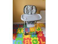 Chicco 2in1 highchair ,foam puzzle ,bottle steriliser