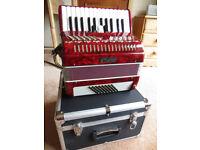 Piano Accordion Studio 48 bass red