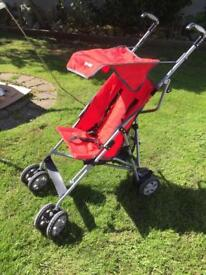 Pushchair.Red .Foldable.