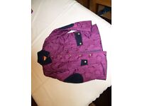 Navy/purple girls jacket, Little Miss Real, age 7-8