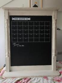 Large chalk board calendar