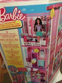 Barbie Mansion plus accessories.