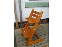 Wooden high chair for toddlers/ children