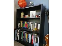 2 x Ikea Billy bookcases in black/brown