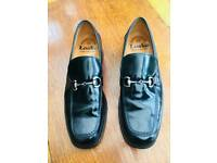 Men's black leather Loake shoes, size 9 1/2
