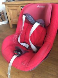 Red Maxi Cosi Pearl car seat