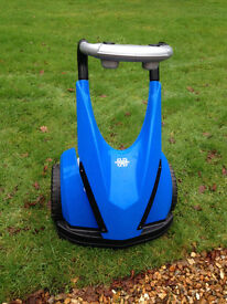 Kids Segway Style Battery Powered Ride On Forward Reverse Blue - hardly used - Ferndown
