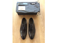 Barker Nunthorpe Handcrafted Black Leather Shoes Mens Size 8.5 G Fit BNIB RRP £290, Price £150 ONO