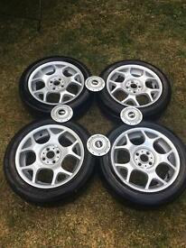 Genuine standard mini r53 coopers s wheels with tyres
