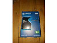 WD My Passport Ultra 2TB Sealed unopened Black Portable External Hard Drive - USB 3