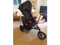 Phil and Ted's Navigator Double Pushchair, with all accessories, in black