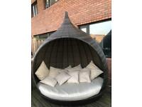 Maze Rattan Pear Daybed Day Bed Garden Furniture