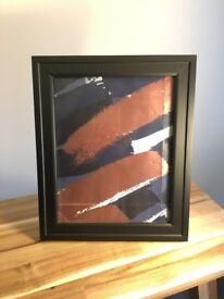 "Simple black photo frame - fits 10x8"" photo"