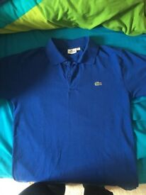 Blue Lacoste Original T-shirt medium size brand new!!