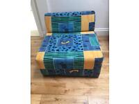 Single foam Z bed chair bed