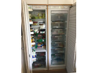 Miele 177cm integrated fridge/freezer pair. great conidtion. 7 shelves, (6 adjustable).