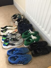 Selection of boys trainers and football boots