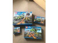 LEGO city volcano set