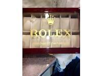 Rolex watch box: display case