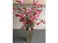 BEAUTIFUL FLOWER POT WITH HOT PINK FLOWERS