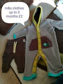 M&s clothes 9-12 months